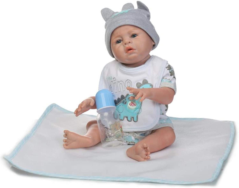 Full Body Silicone Baby Reborn Dolls 20 inch Real Life Anatomically Correct Baby Boy Doll Handmade Newborn Baby Dolls with Clothes (Blue (Boy))