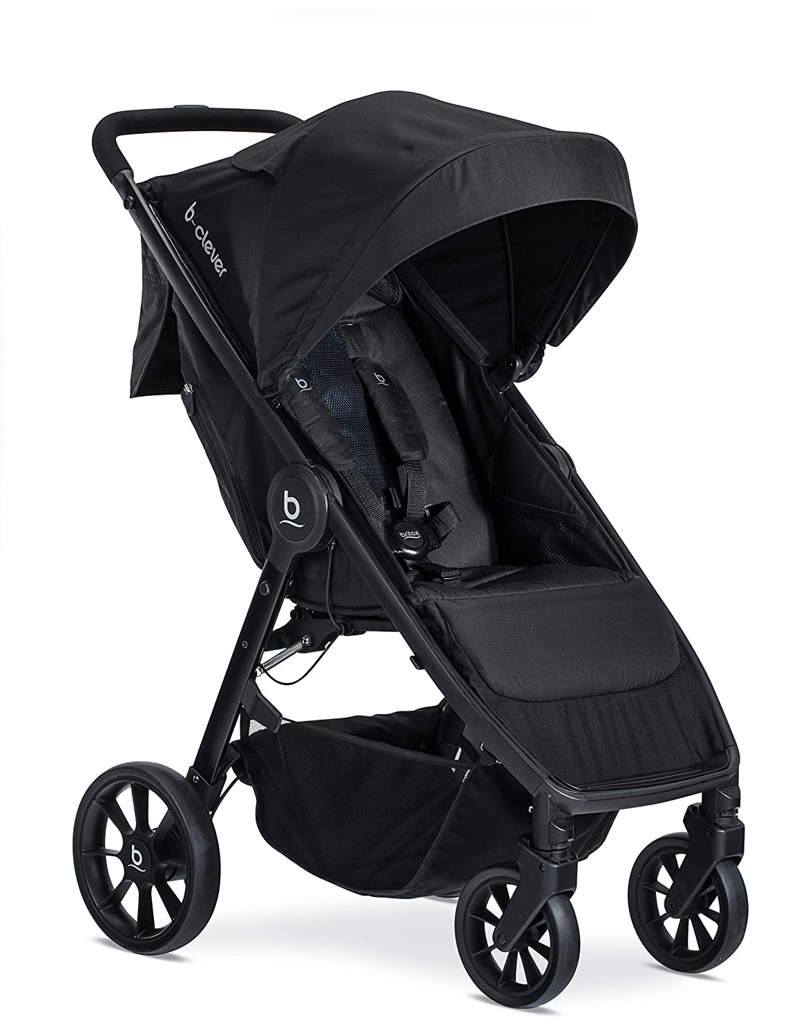Britax B-Clever Lightweight Stroller | One Hand, Easy Fold + Ventilated Canopy + Cool Flow Ventilated Fabric, Cool Flow Teal