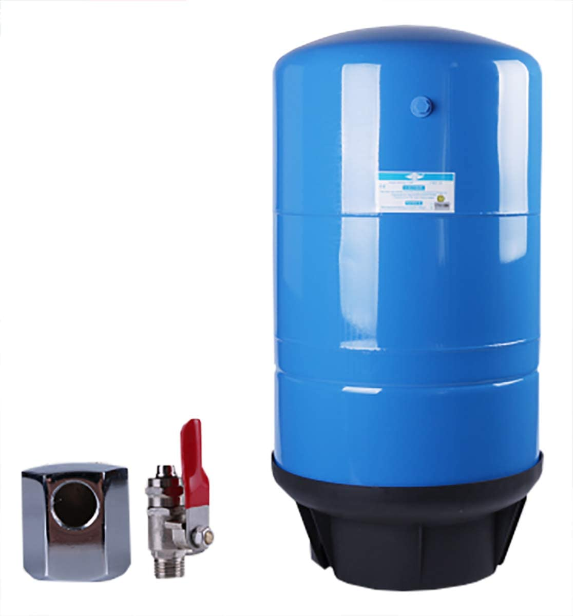 BAOSHISHAN RO Water Storage Metal Tank 20 Gallon NSF Certified with Ball Valve for Pure Water Reverse Osmosis Water Storage Pressure Tank (20 Gallon)