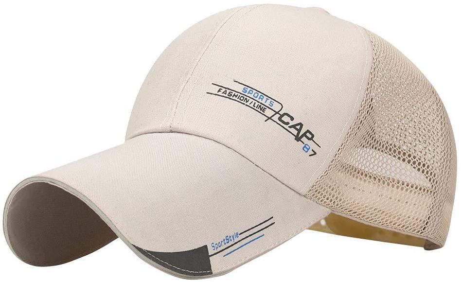Fineday Unisex Women Men Mesh Baseball Cap Adjustable Trucker Outdoor Sport Hip-hop Hat, Hat, Clothing Shoes & Accessories