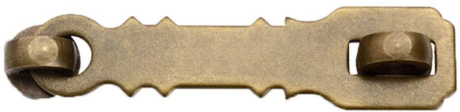 Wooden Door Brass Buckle Furniture Buckle Cabinet Lock Antique Drawer Bolt Garden Security Door Buckle Hardware Accessories (2.6inch, Brass)