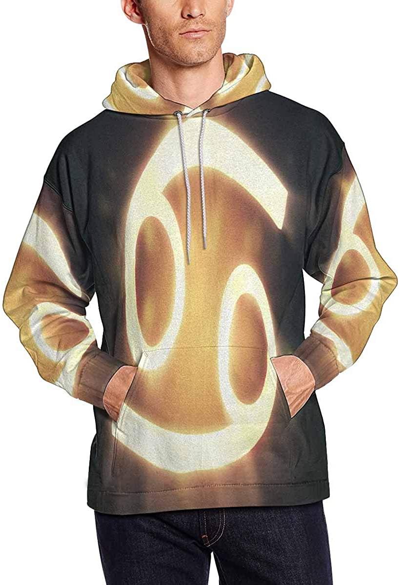 INTERESTPRINT Men's Cancer The Crab Zodiac Horoscope Astrology Sign Sweatshirts Hoodie