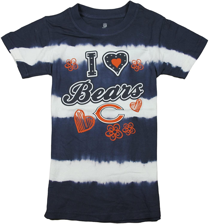 Chicago Bears NFL Youth (7-16) Girls Navy Tie Dye Short Sleeve Tee