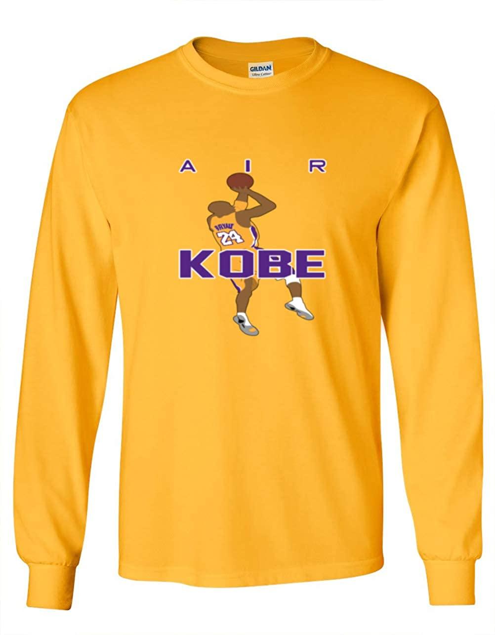 Shedd Shirts Long Sleeve Gold Los Angeles AIR Kobe T-Shirt Youth