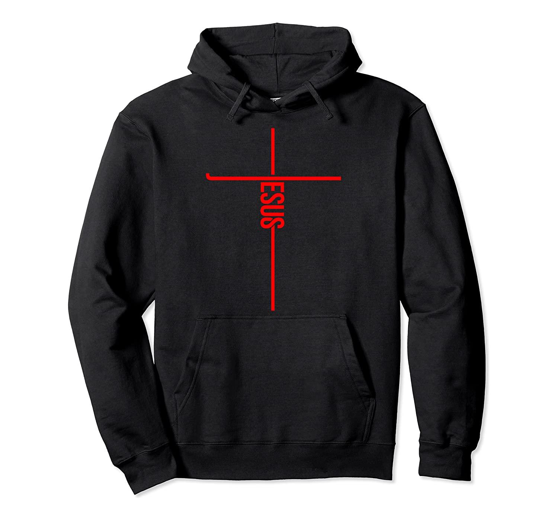Cool Jesus Cross Gift For Men Women Funny Christian Faith Pullover Hoodie
