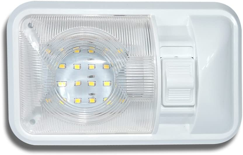 12V Led RV Ceiling Dome Light RV Interior Lighting for Trailer Camper with Switch, Single Dome 280LM