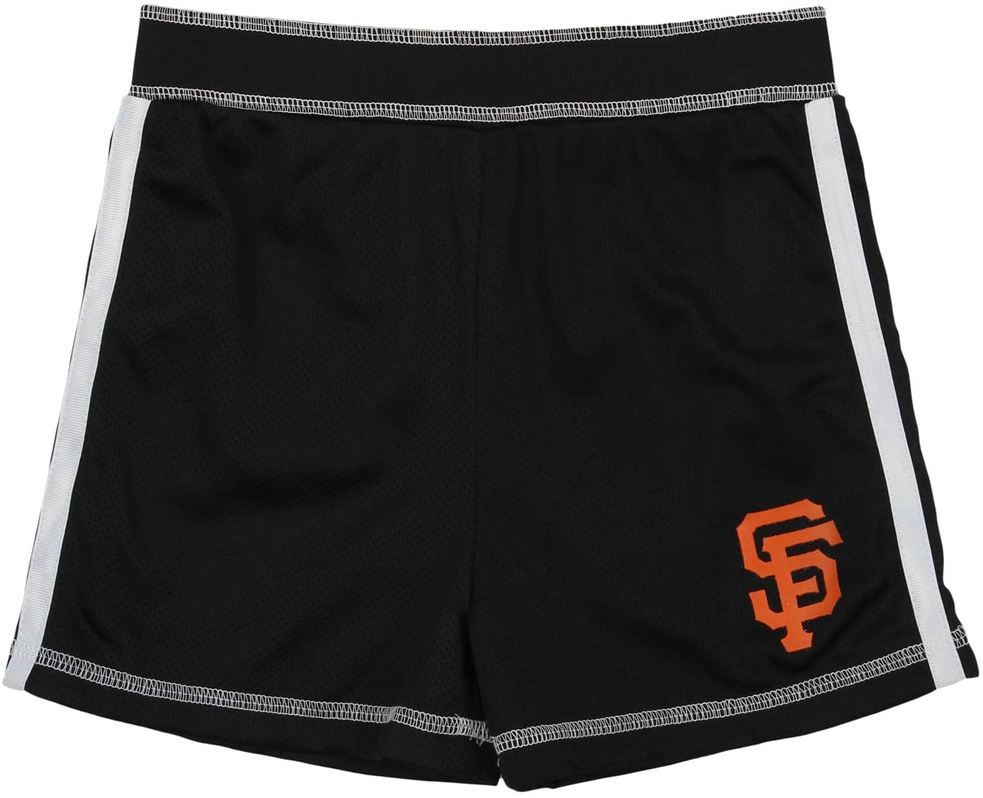 Outerstuff MLB Youth Girls San Francisco Giants Batter Up Mesh Shorts