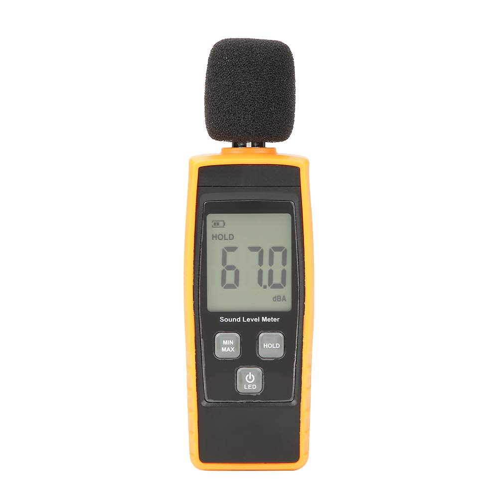 Noise Tester, GM1359 Digital LCD Sound Level Meter DB Meter Environmental Noise Tester Measures Sound Level from 30dBA up ~ 130dBA