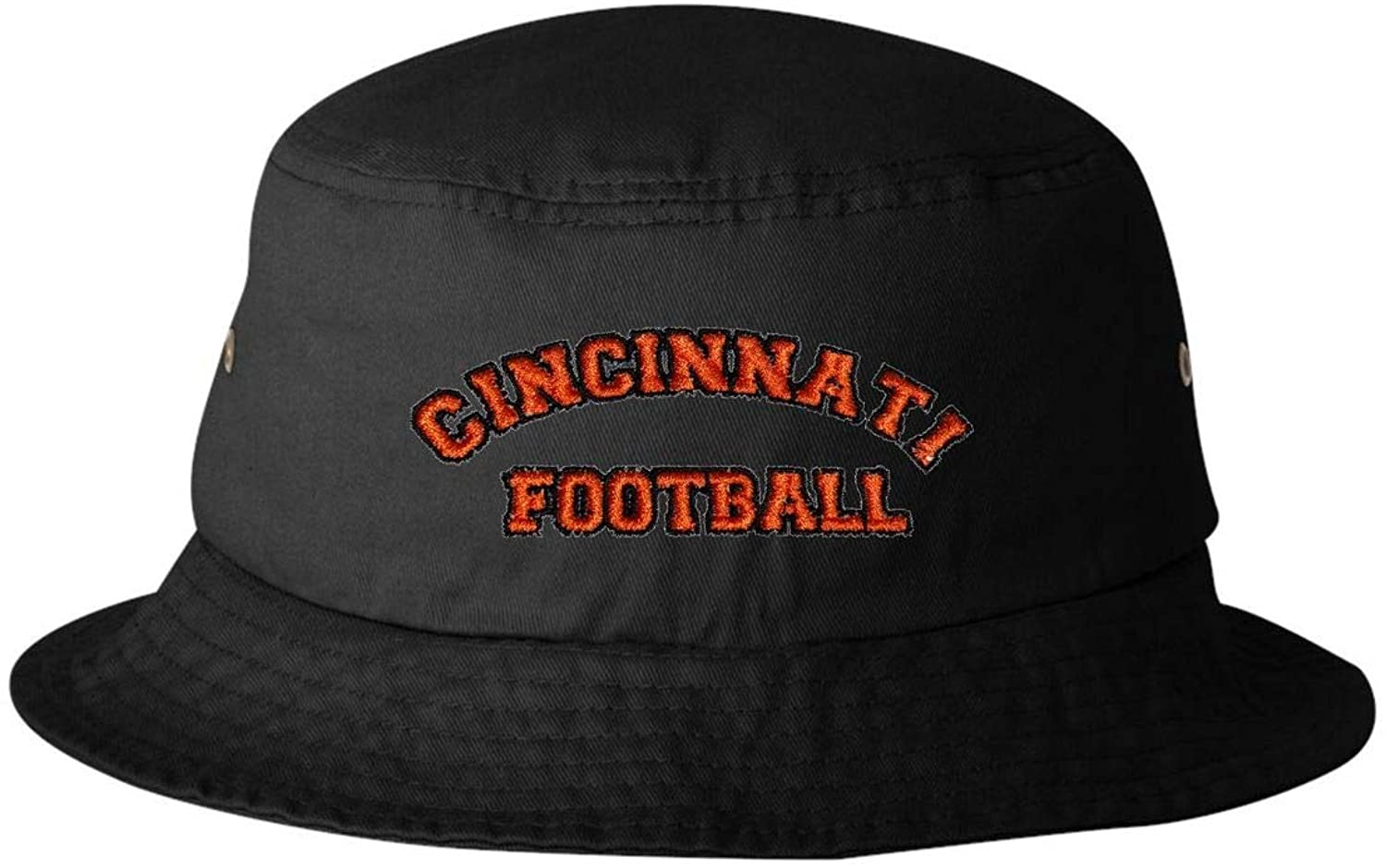 Go All Out Adult Cincinnati Football Embroidered Bucket Cap Dad Hat