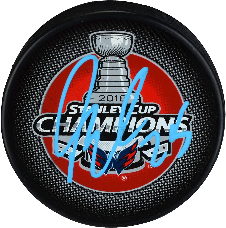 Devante Smith-Pelly Washington Capitals 2018 Stanley Cup Champions Autographed Stanley Cup Champions Logo Hockey Puck - Autographed NHL Pucks