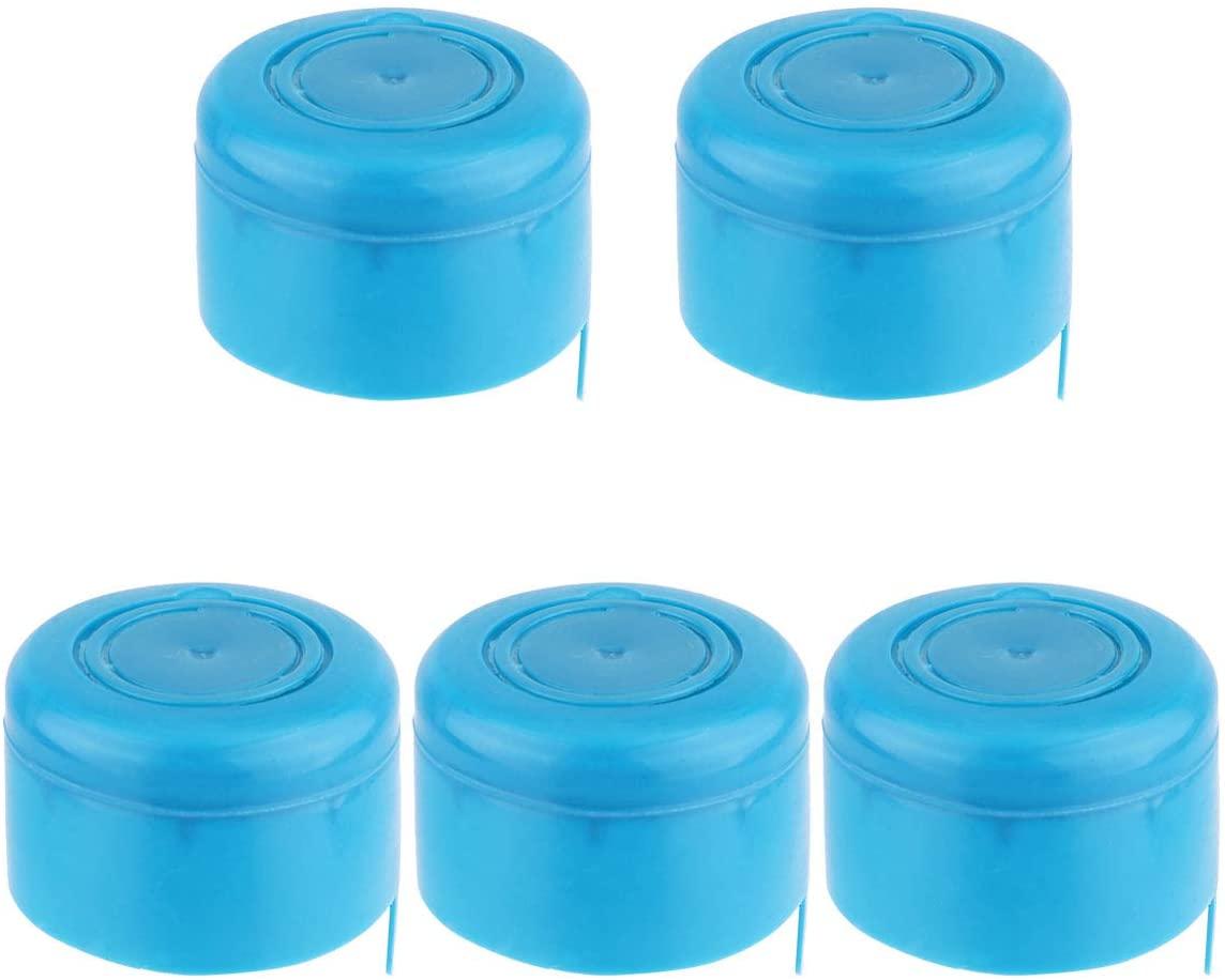 Alvivi 3& 5 Gallon Water Jug Caps Replacement Non Spill Bottle Caps Anti Splash Reusable Water Bottle Caps Blue One_Size
