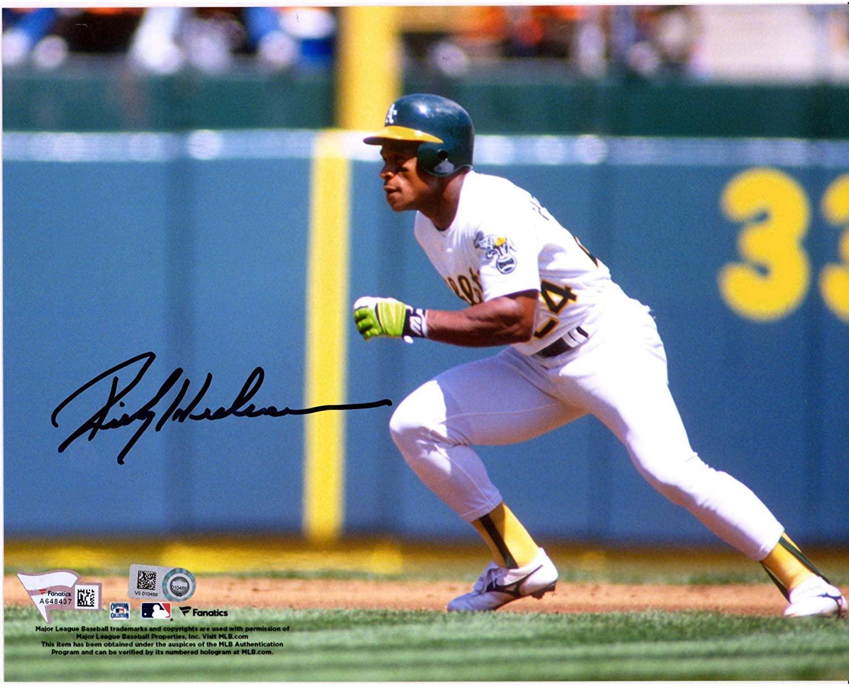 Rickey Henderson Oakland Athletics Autographed 8