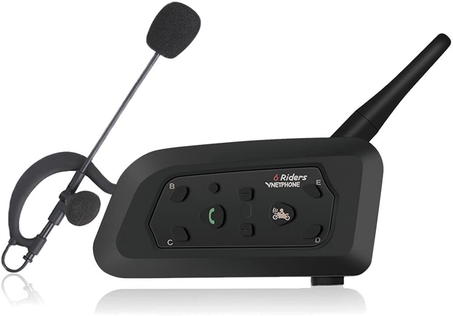 Vnetphone V6C Wireless BT Intercom With Referees Headset Professional Football Referee Intercom Motorcycle Bluetooth Intercom Full Duplex Intercom 1200M Switch Call Intercom