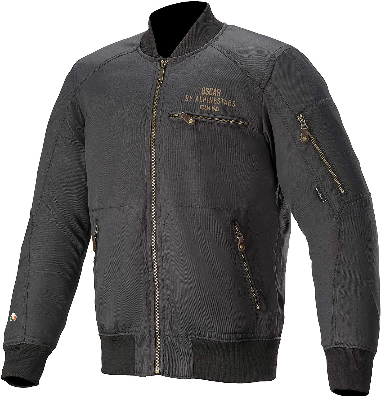 Alpinestars Men's Bomber Motorcycle Jacket, Black, 3X-Large