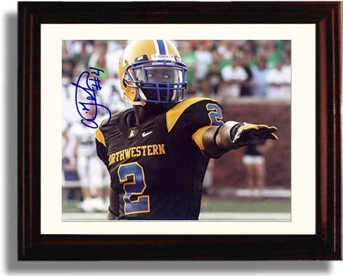 Framed Aldarius Johnson Autograph Replica Print - Northwestern Wildcats