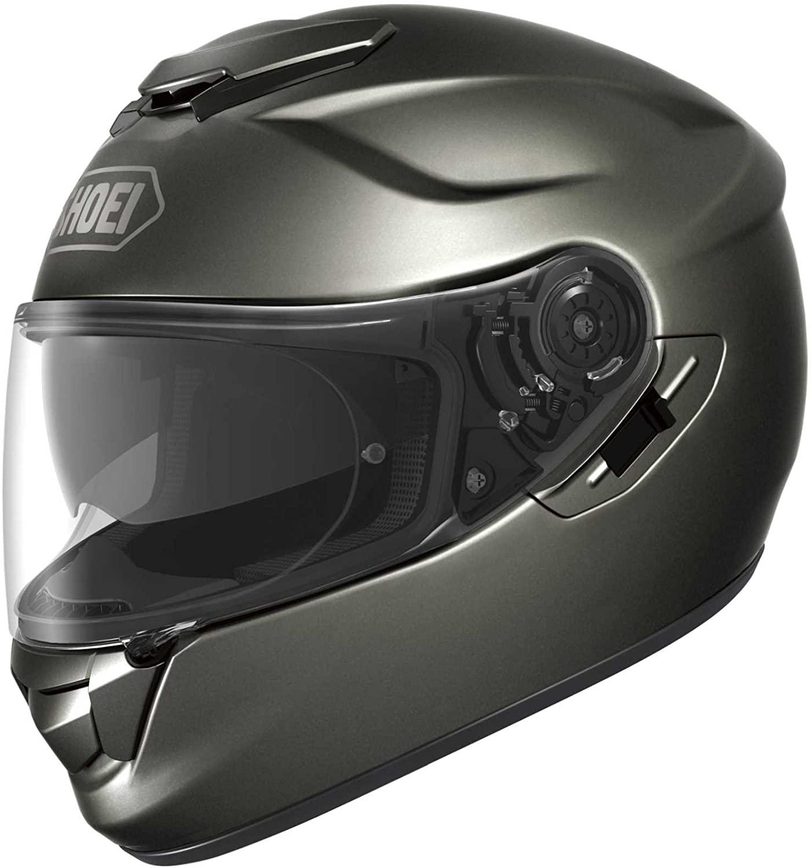 Shoei Metallic GT-Air Street Racing Motorcycle Helmet - Anthracite/X-Small