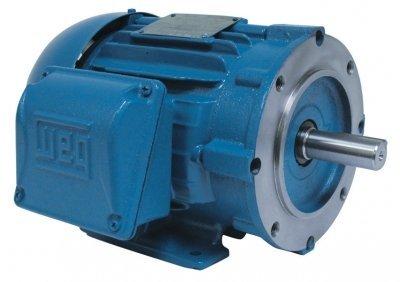 WEG Electric, 00318ET3H182TC-W22, 3HP, 1800RPM, 3PH, 575V, 182TC Frame, C-Face Flange, Foot Mount, TEFC, General Purpose Motor.