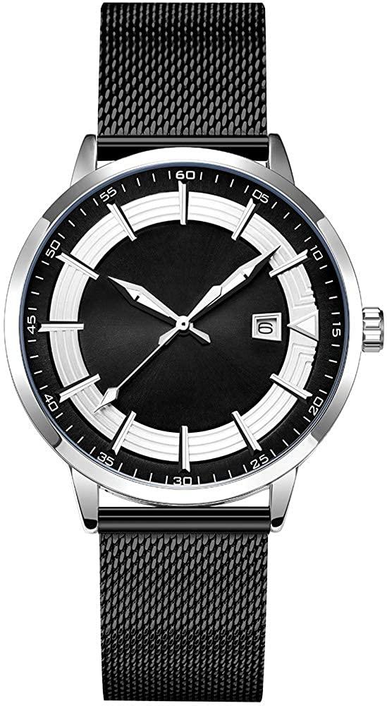 Fashion Mens Casual Fashion Watches Original Design Watch Men Steel Mesh Men's Watch Clock Relogio Masculino Water Resistant Wristwatch