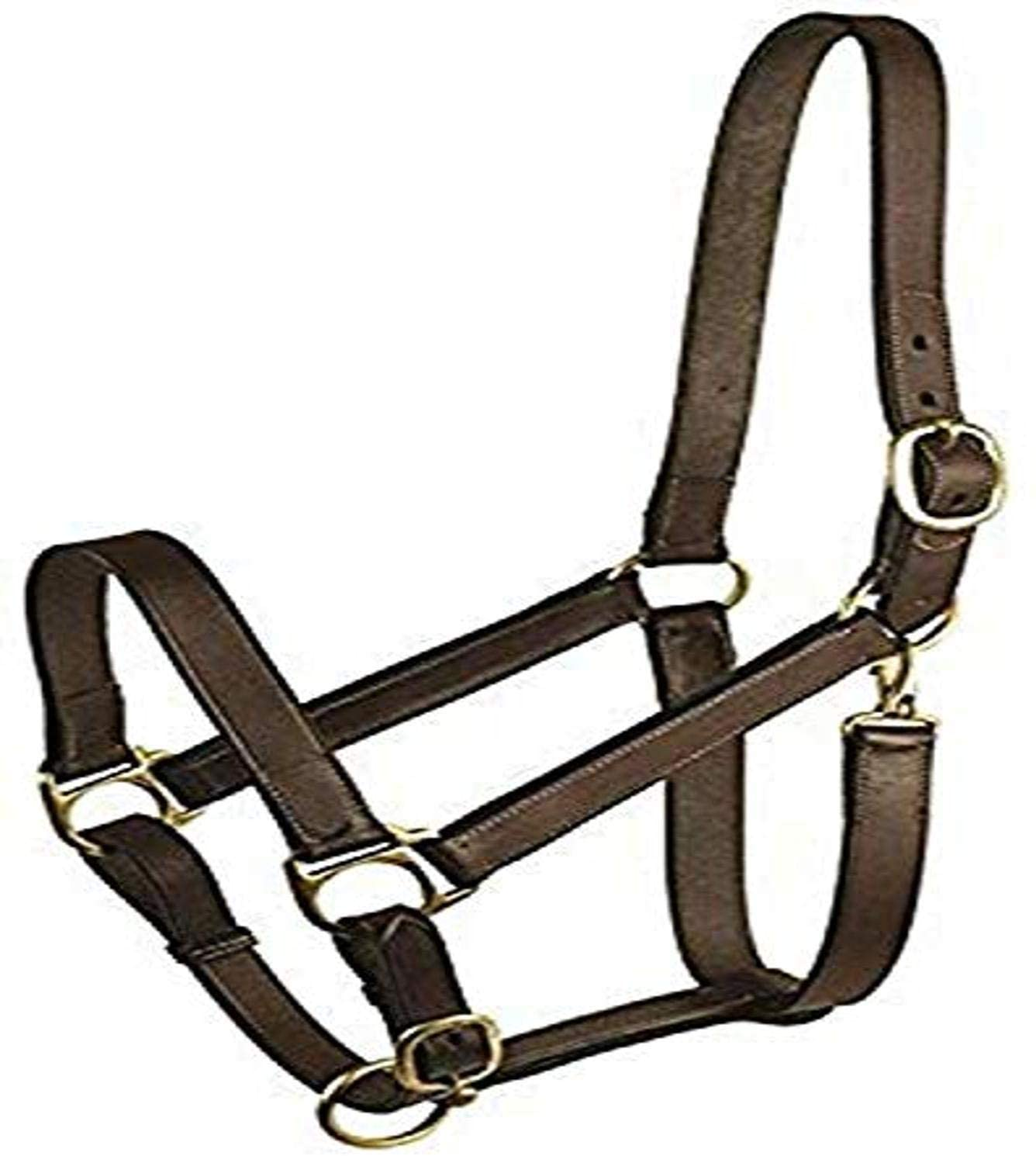 Gatsby Leather 282960 Stable Halter with Snap Havanna Brown, Yearling
