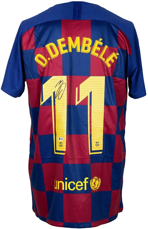 Ousmane Dembele Signed Nike FC Barcelona Soccer Jersey BAS ITP