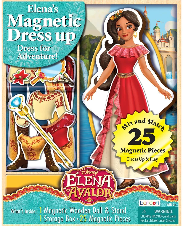 Bendon Elena of Avalor Wooden Doll Magnetic Dress Up Kit (AS99092)