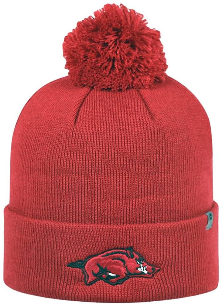 Top of the World Youth Arkansas Razorback Beanie Knit Pom Beanie Hat