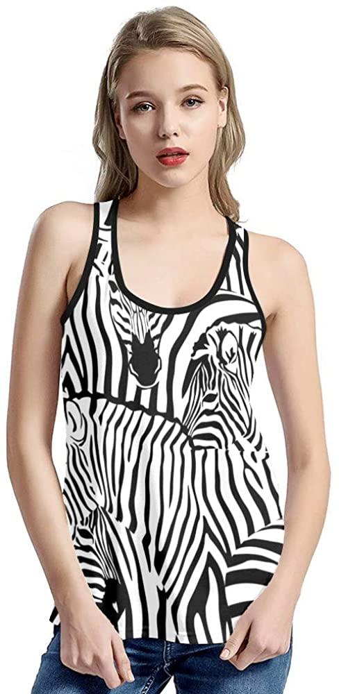 GANPIN XOZOTY Tank Tops for Women Casual Watercolor Horse T-Shirt Workout (XS-XXL)