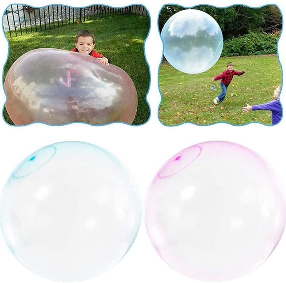 Kakin Inflatable Bubble Ball Wobble Water-Filled Rubber Big Toy Transparent Bounce Balloon Super Soft for Adults Kids Playing on Beach Garden Party Outdoor Event Decorations