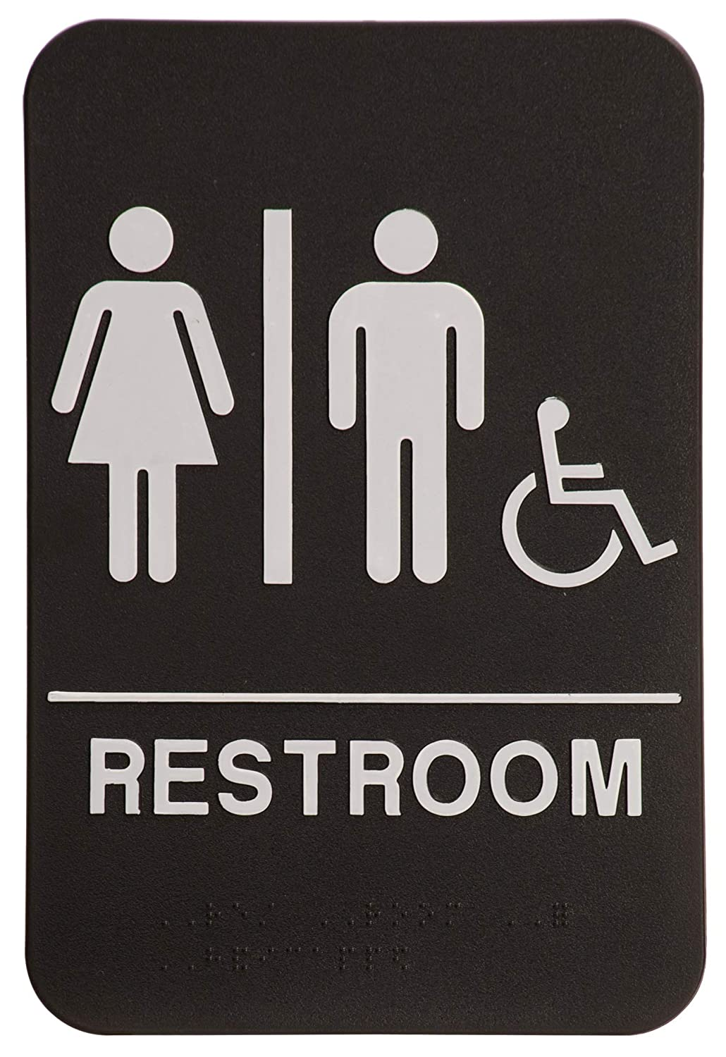On Top Awards - Unisex Bathroom Sign with Wheelchair Accessible 6