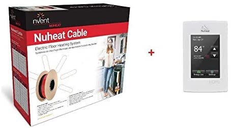 NuHeat nVent Floor Radiant Heat Cable N2C170, 240 V, 170 sq. ft.+ Home Programmable Thermostat AC0056