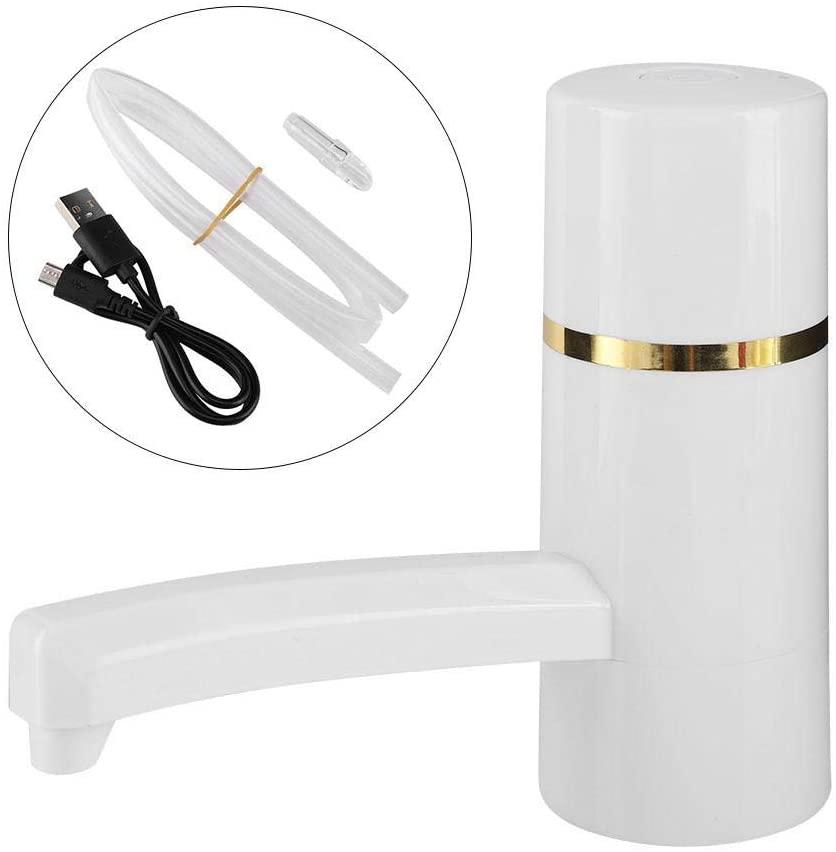 Idalinya Bottle Water Pump 1x Wireless Rechargeable Bottle Drinking Water Electrical Pump Portable Drinkware Dispenser Usb(white)