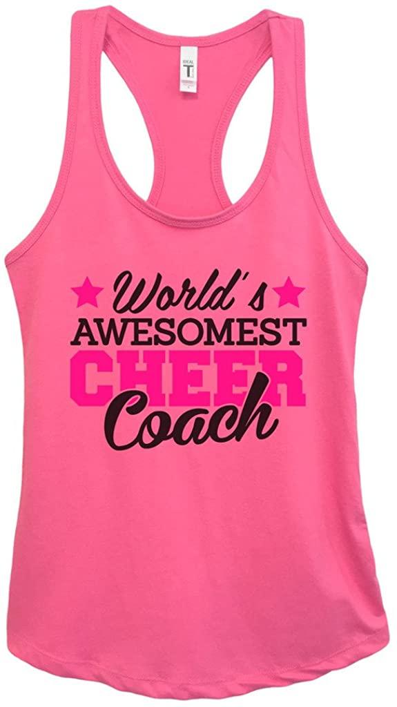"Funny Threadz Cheerleading Gymnastics Tank Top ""Worlds Awesomest Cheer Coach"