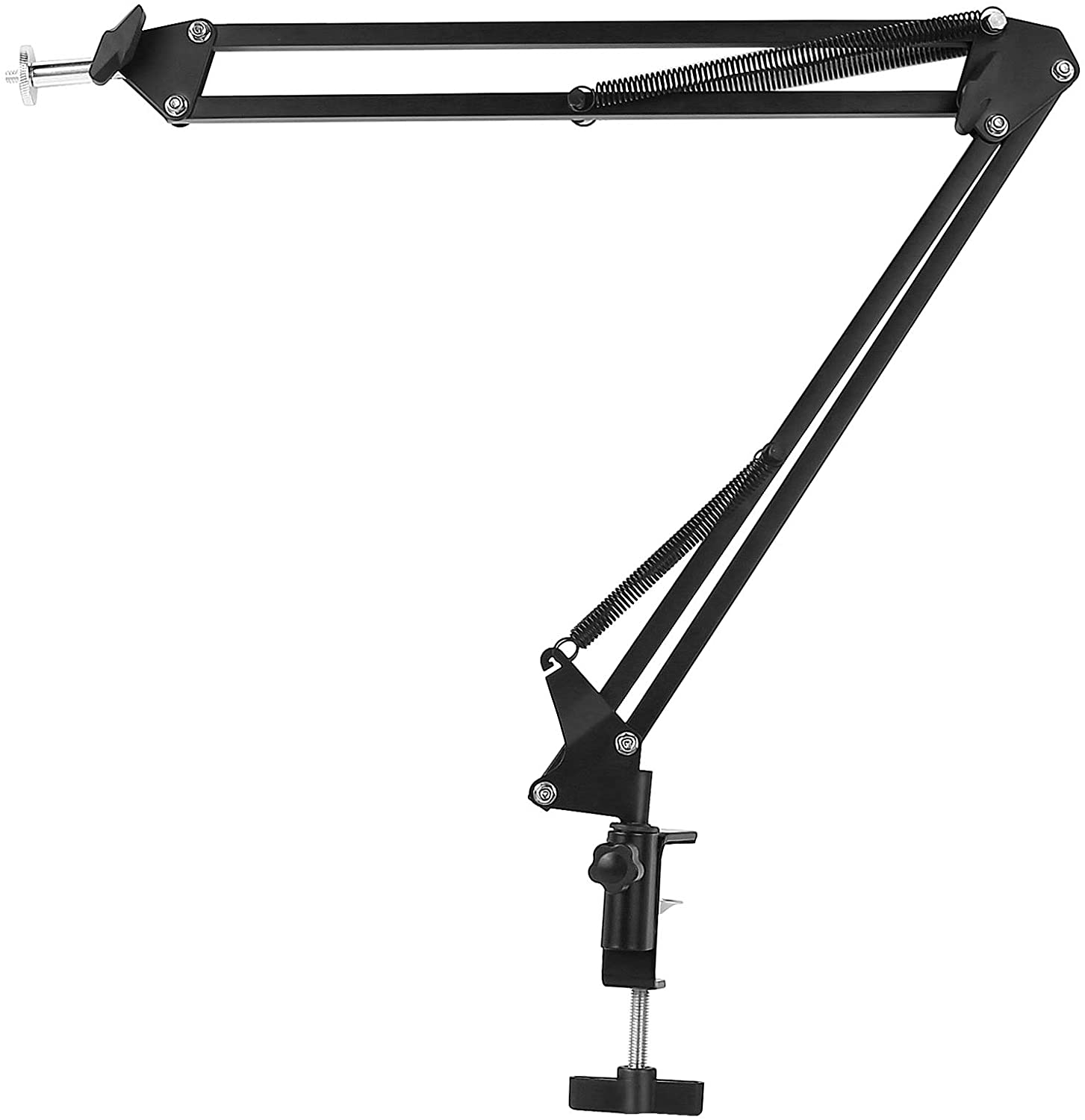 GANNI Microphone Arm Stand, Adjustable Suspension Flexible Boom Scissor Mic Stand with 3/8
