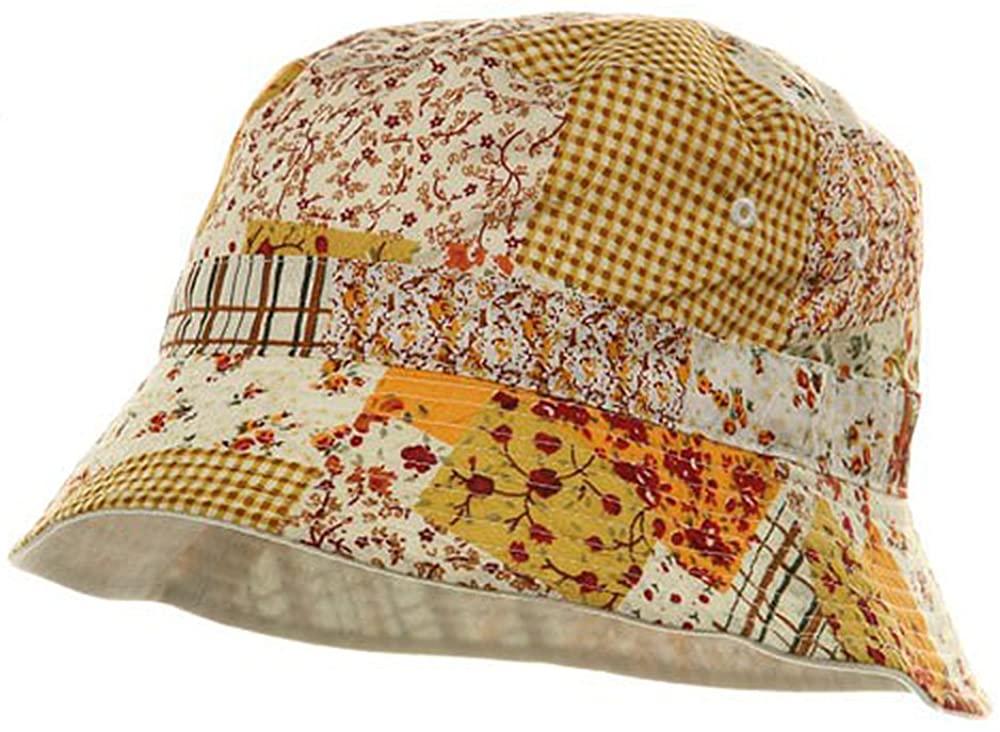 MG Reversible Flower Bucket Hat - Gold