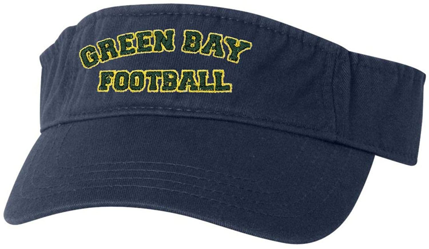 Go All Out Adult City of Green Bay Wisconsin Football Embroidered Visor Dad Hat