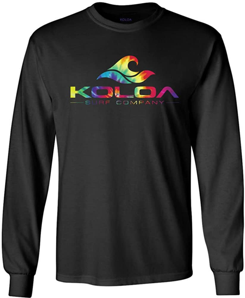 Koloa Surf Co. Rainbow Wave Logo Tye-Dye Shirts Sweatshirts and Hoodies