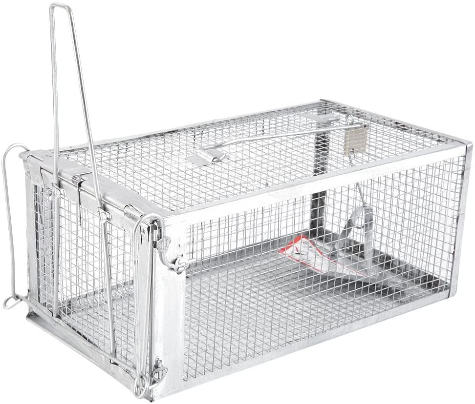 One Door Animal Trap,One Door Animal Trap Sturdy Steel Cage for Small Rodent Humane Cage Control Catch Bait for Rat Squirrel