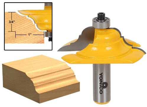 Yonico 13133 2-1/2-Inch Diameter French Baroque Table Edge Router Bit 1/2-Inch Shank
