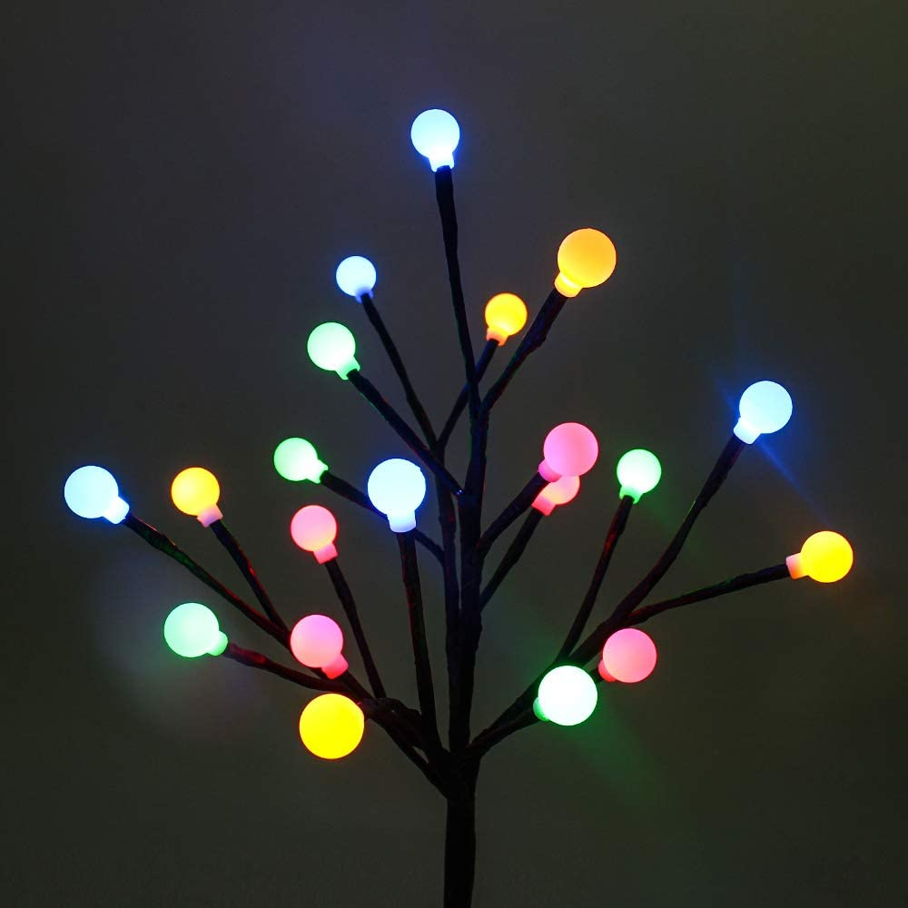 SUPSOO Patio Lights 2 Pack Solar Light 20LED Waterproof Indoor/Outdoor Artificial Decoration Lighted Tree for Bedroom, Garden, Patio, Yard, Christmas, Party, Xmas Decorations