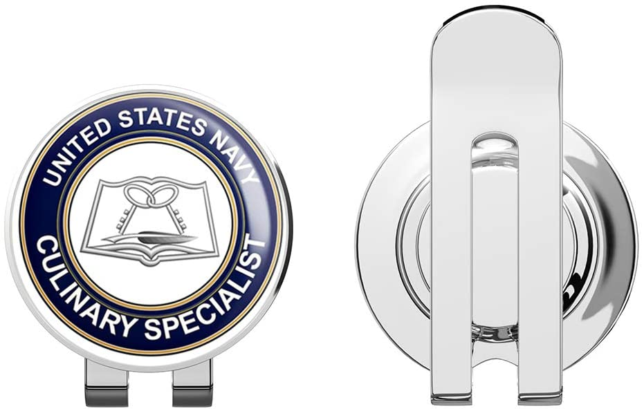 US Navy Culinary Specialist CS Golf Hat Clip with Magnetic Ball Marker