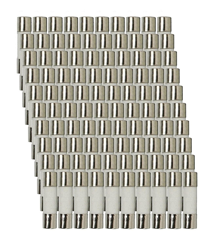 100 Qty. Divine Lighting 5X20mm 1.5A Fast-Blow Fuse 250v 1.5A; 217; Ceramic 5x20mm 1.5A Fast-Blow Fuse