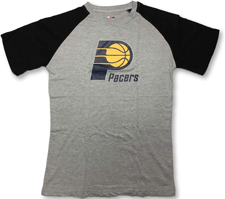 Majestic Indiana Pacers NBA Mens Big Logo Raglan Shirt Big and Tall Sizes