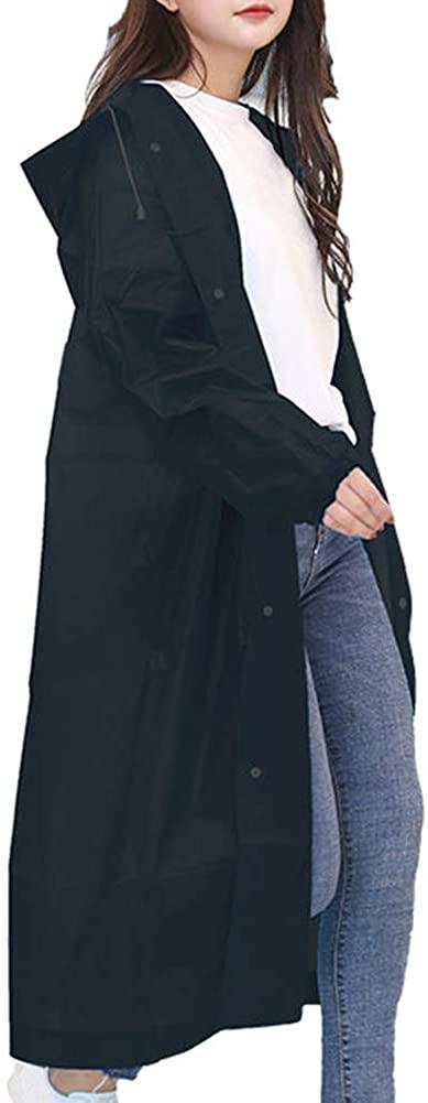 Fosheng Rain Poncho for Adults - Waterproof Portable Raincoat,Extra Thick Disposable Emergency EVA Rainwear for Women & Men