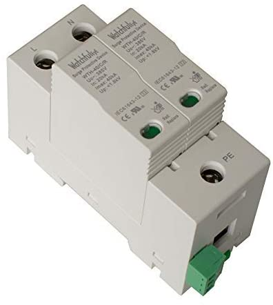 WatchfulEyE WTH-40/C/R/2P-275 Whole House Surge Protector DIN-Rail Mounted Single Phase MCOV 275VAC
