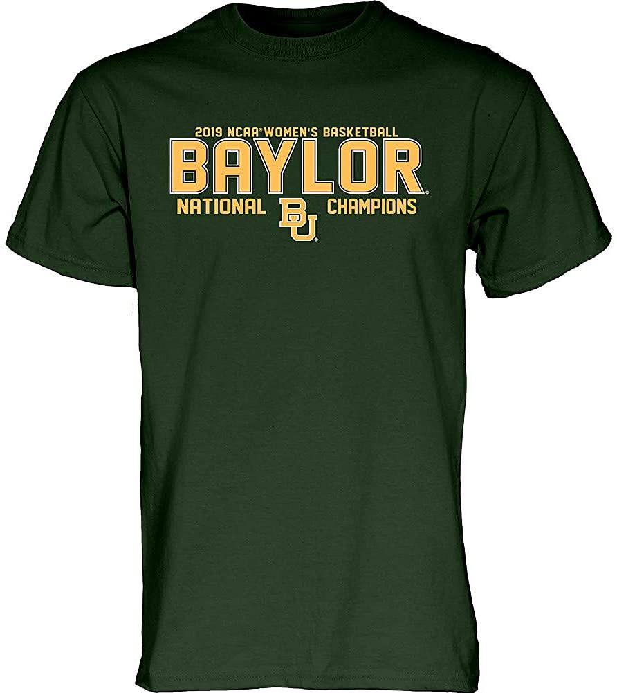 Elite Fan Shop Baylor Bears Womens National Basketball Championship Tshirt 2019 Block Green