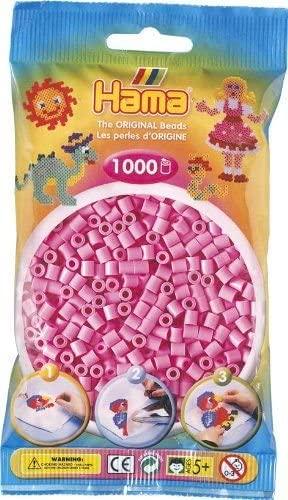 Bulk Buy:Hama Pastel Light Mauve 207-48 Midi Beads 1,000 Count (3 Pack)