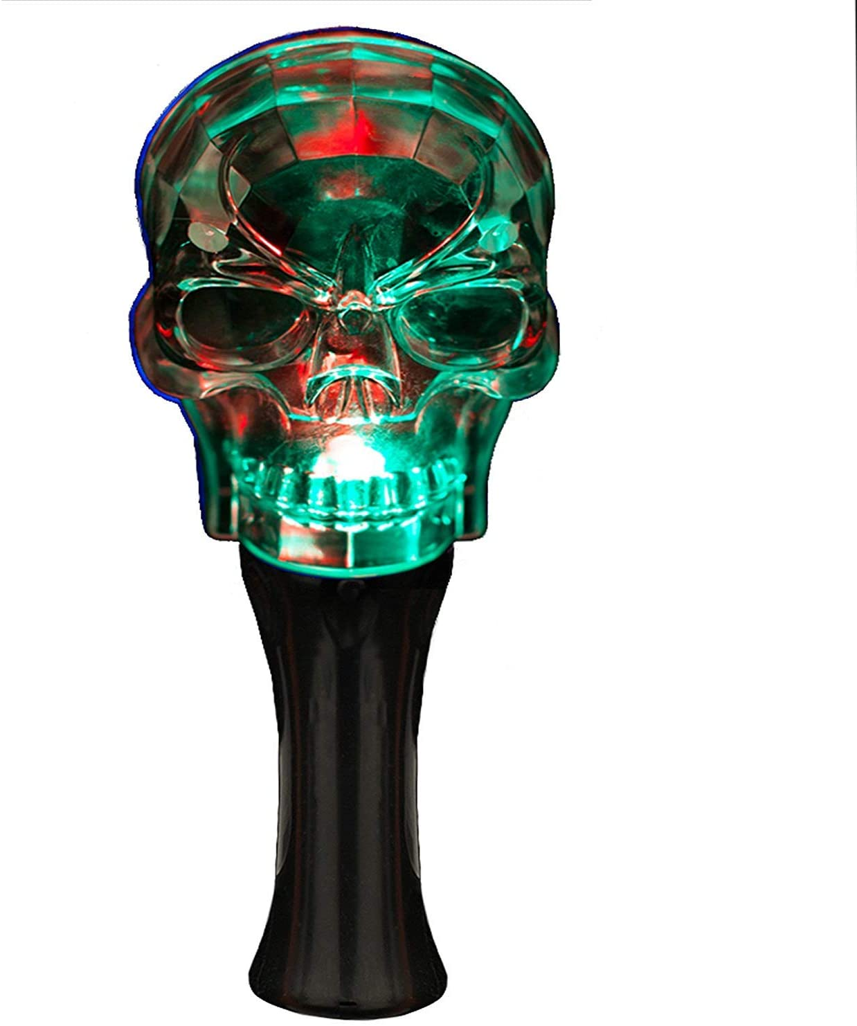 Fun Central 8 Inches LED Light Up Crystal Skull Wand for Kids' & Toddlers' Halloween Accessory