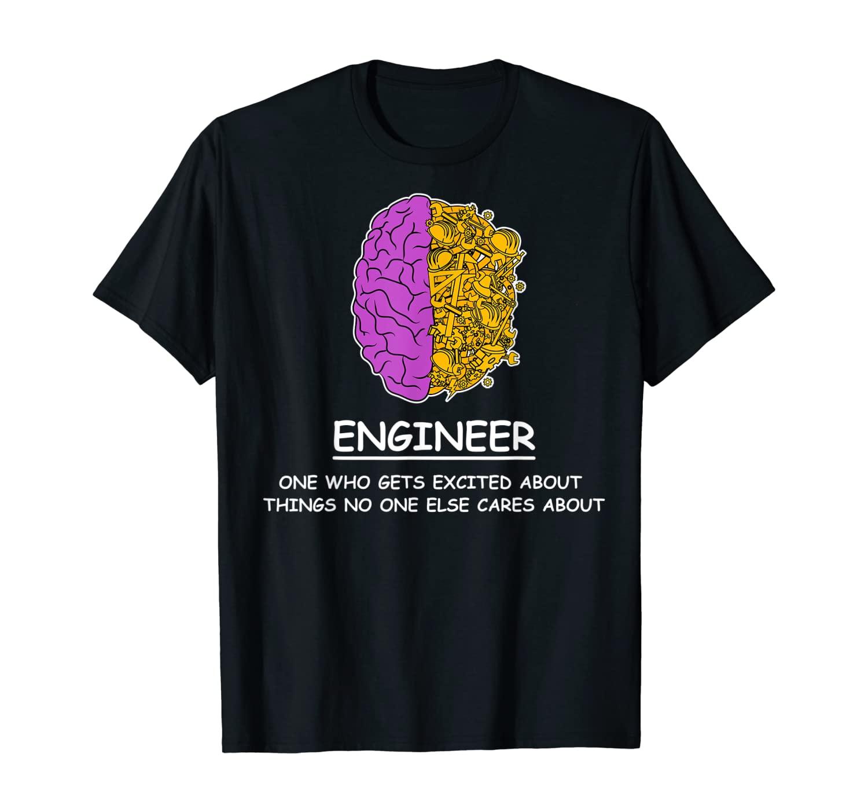 Mechanical Engineering T-Shirt I Brain Pun Definition Tools T-Shirt