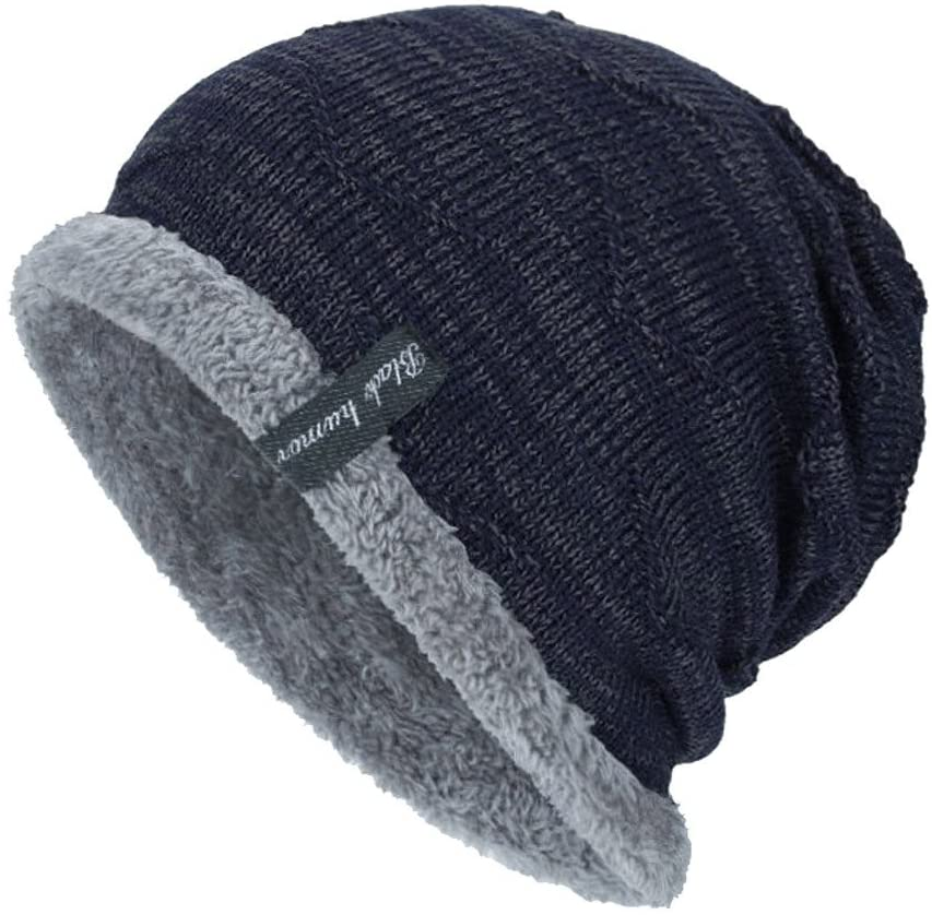 Fineday Unisex Knit Cap Hedging Head Hat Beanie Cap Warm Outdoor Fashion Hat NY, Hat, Clothing Shoes & Accessories (Navy)