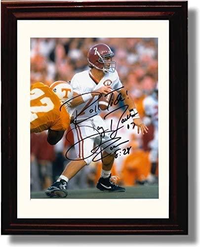Framed Alabama Football Jay Barker Autograph Replica Print